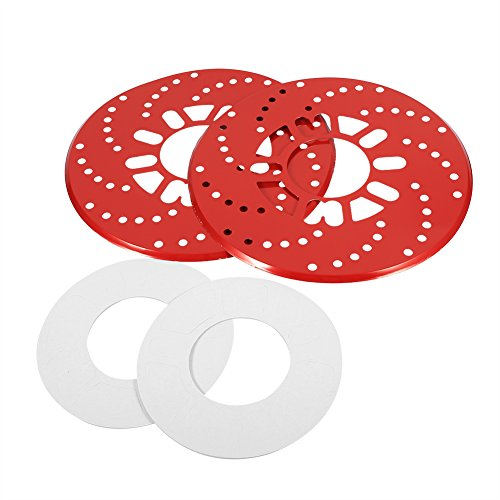 SANON 1 Juego de Cubiertas Decorativas de Ajuste de Rotor de Freno de Disco de Aluminio Automático Reequipamiento 26 Cm Rojo