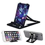 Pocket-Size Slim-Pro Stand by Amusent, Ultra Slim Portable Phone Stand, Foldable Kickstand, Sturdy, Adjustable, Multi-Angled, Compatible w/ iPhone, Smartphones & Tablets
