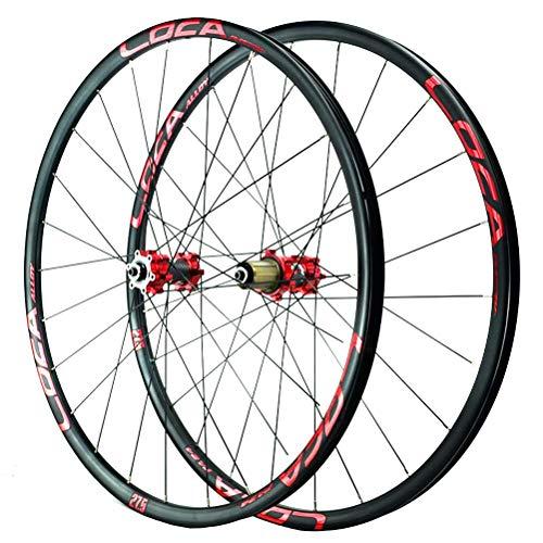 Set di Ruote for Bici da MTB da 26 27.5 29 Pollici Cerchione A Doppia Parete Freno A Disco A Rilascio Rapido 8 9 10 11 12 V (Color : A, Size : 29in)