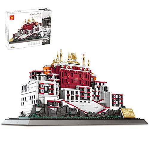 Sunbary Juego de construcción de palacio de Potala, 1464 piezas de construcción compatible con casa de Lego