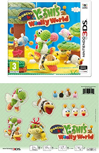3DS Poochy and Yoshi's Woolly World + Parches de tela