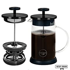 DO YOU HATE BITTER COFFEE? – So do we! That's exactly why we designed the Osaka French Press. We designed a patent-pending new filter with a vacuum seal that seamlessly separates the grinds from the coffee, giving you the power to stop the brewing pr...