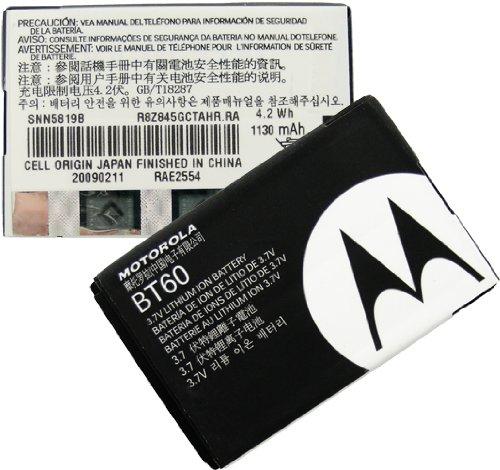 Motorola C290/i580 OEM 1100mAh BT60 Lithium Battery Standard Factory Original