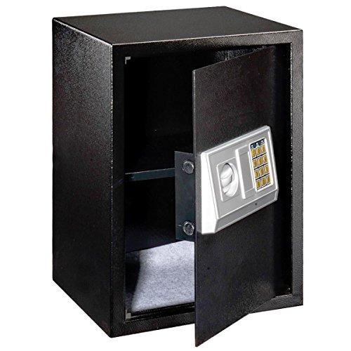 NEW Black Large Digital Electronic Safe Box Keypad Lock Security Home Office Hotel Gun