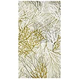 100 Sea Fans Guest Napkins 3 Ply Disposable Paper Pack Sea Fan Dinner Hand Napkin for Summer Bathroom Powder Room Wedding Anniversary Holiday Birthday Party Bridal & Baby Shower Decorative Towels
