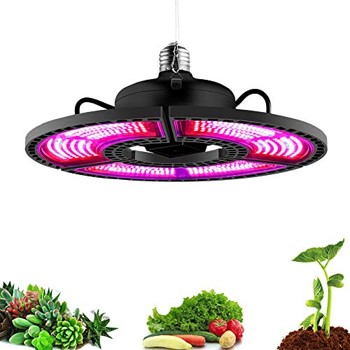 MZSG Indoor E27 LED 400W Grow Light, Panel Vollspektrum Phyto Lampe, Für Pflanzen Warm White LEDs Grow Zelt