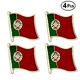 ShAwng Broche de Bandera Pin de Bandera de Portugal Pin de Solapa InsigniaBroche Iconos 4PC, KS0146-4