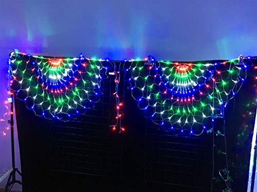 LTKING Led-lichtnet voor de pauw, tent van netstof, voor binnen, waterdicht, 3 x 0,8 m, 414 leds, kerstboom of hotel City