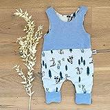 Sharlene Strampler Herbst Waldtiere (Blau Melange) Baby Junge