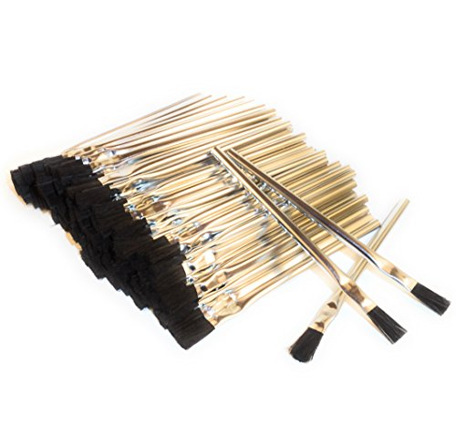 Acid Brushes (General-Purpose, Flux, Craft), 3/8', Horsehair, 144 pieces, Made in USA