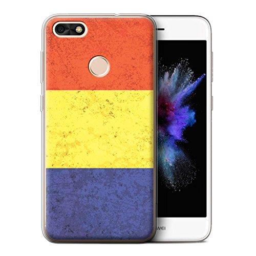 Stuff4® Gel TPU hoes/case voor Huawei P9 Lite Mini/Roemeens patroon/vlag collectie