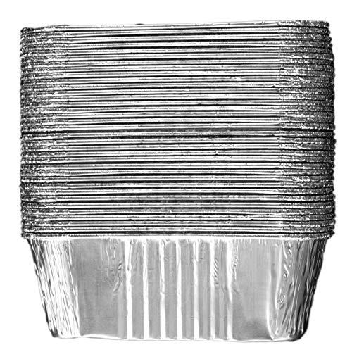 Mini-Kastenformen aus Aluminium (70 Stück) – Mini-Kasten-Backformen – Einweg-Aluminiumfolie, 0,5 kg, kleine Brotdosen, 15,2 x 8,9 x 5,1 cm
