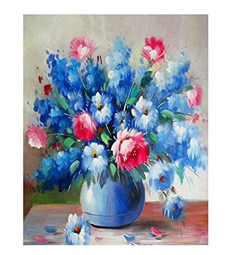 40 * 50 cm gotowa rama ręcznie malowany obrazek numery kwiaty/krajobraz farba akrylowa według numerów zestawy farba olejna dekory domu prezent