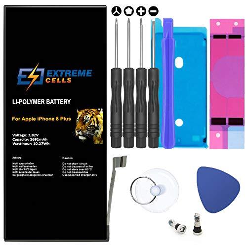 Extremecells Akku für iPhone 8 Plus + Werkzeug Tool Set Kit Batterie Accu 2691 mAh