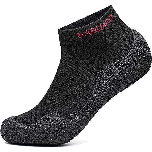 Women's Sock Shoes Ultra Portable Foldable Yoga Socks Barefoot Non-Slip Walking Trail Running Gym Shoe Outdoor Water Sport Black