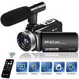 Camescope Caméra 1080P 30FPS Camescope Numérique 18X Zoom avec Microphone 3 Pouces...