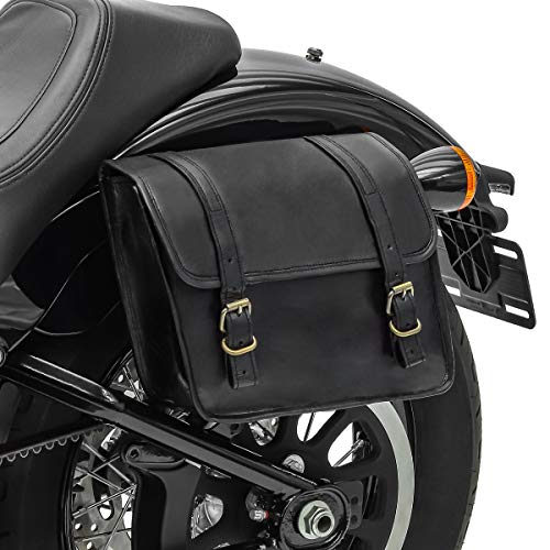Borsa laterale Vintage Compatibile con Moto Guzzi V9 Bobber/Sport SV6 sinistra 6L nero