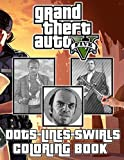 Grand Theft Auto V Dots Lines Swirls Coloring Book: Diagonal-Dots-Swirls Activity Books For Kids And Adults
