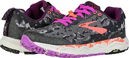 Brooks Womens Caldera 3 - Black/Purple/Coral - B - 9.0