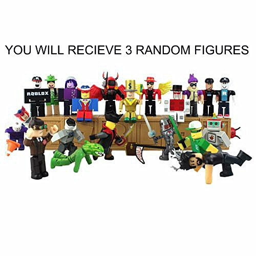 ROBLOX Random Action Figures mystery box + Virtual Item Code 2.5 (Set of 3 Random Roblox Figures)