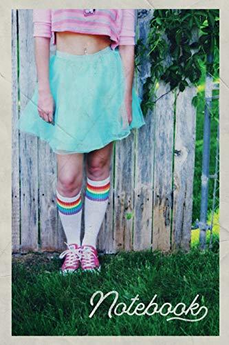 Notebook: Rainbow socks Elegant Composition Book Journal Diary for Men, Women, Teen & Kids Vintage Retro Design for Pansexual Lovers
