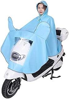 KTYXDE Raincoat Multi-Function Light Eva Environmental Protection Material Poncho Hooded Electric Car Riding Rain Cover Raincoat (Color : Blue)
