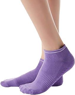 Bascar - Calzini da sneaker, da donna, con dita antiscivolo, per yoga, sport, balletto, danza, antiscivolo