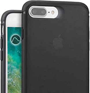 Caudabe Synthesis iPhone 8 Plus / 7 Plus Slim, Rugged Protective iPhone Case (Stealth Black)