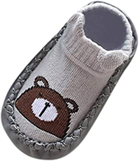 Sunward 0-24 Months Newborn Baby Cartoon Animal Baby Girls Boys Anti-Slip Socks Slipper Shoes Boots