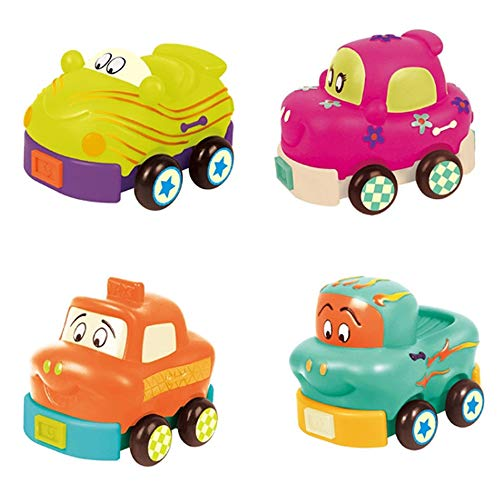Best Price Rain city Cartoon Pull Back Trolley Children's Educational Toys 4 Sets Suitable for Babie...