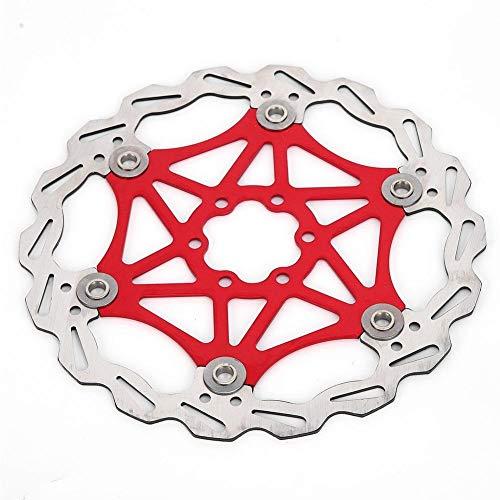 dgtrhted 160/180 / 203mm Tipo de Bicicleta de montaña Disco de Freno Flotante Cojín de Freno de Bicicleta Accesorio de Ciclismo (Rojo 180 mm)