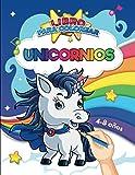 Libro para colorear : Unicornios - 4/8 anos: Aprende divirtiéndote: 50 unicornios de todo tipo para...