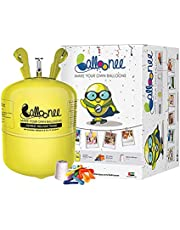 Balloonee JUMBO Party Kit with Helium Gas and 50 Balloons and Ribbon