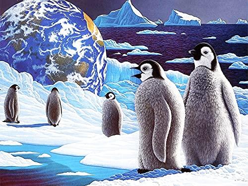 5D bricolage pingouin point de croix mosaïque diamant brodé Animal décoration de la maison diamant peinture A12 45x60 cm