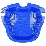 Linxor France  Pédiluve bleu avec fond antidérapant et accroche échelle pour piscine hors sol - Norme CE