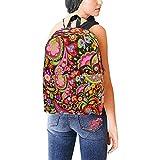 Mochilas escolares Hippie Vivid Papel tapiz decorativo Flores coloridas Artículos de baño colgantes Bolsa de viaje para mujeres Mochila Bolsas de viaje Causales Mochilas escolares para mujeres...