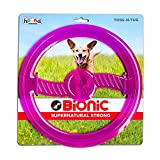 Bionic by Outward Hound Toss N' Tug Durable Tough Fetch Toy for Dogs, Purple
