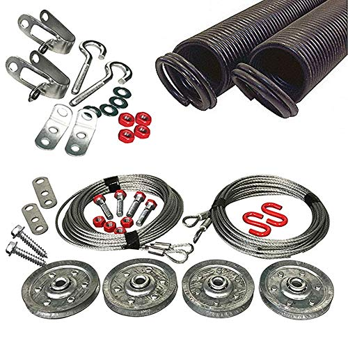 Read About Garage Door Extension Springs PRO-KIT Double Looped for 7' High Door 25-42-150 LB (RED)