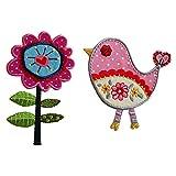 7X11Cm Tallo De La Flor 9X9Cm Pink Bird Una flor muy bonita y femenina en rosa y...