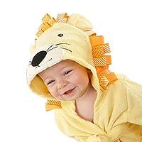 ✿Tissu doux: tissu de coton de haute qualité est doux pour la peau de bébé et se sentir très à l'aise. ✿Absorption d'eau Strong, gardez le corps de bébé sec et confortable après avoir pris un bain ✿La ceinture peut être serrée pour garder le bébé au ...