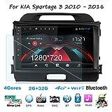 Android Car Stereo Radio Sat Nav Double DIN para KIA Sportage 3 2010-2016 Navegación GPS DSP RDS Unidad Principal de Pantalla táctil de 9 Pulgadas Reproductor Multimedia Receptor de Video