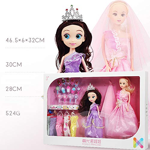Metermall Games For Girl Children Toddler Toys Play House Doll Set Wedding Princess DIY Toy Gift 828-1E
