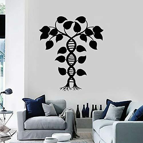 Vinilo Tatuajes de pared Biología espiral Etiqueta de la pared Ciencia Laboratorio Aula Decoración interior Mural Extraíble Decoración del hogar Etiqueta de la pared42X39CM