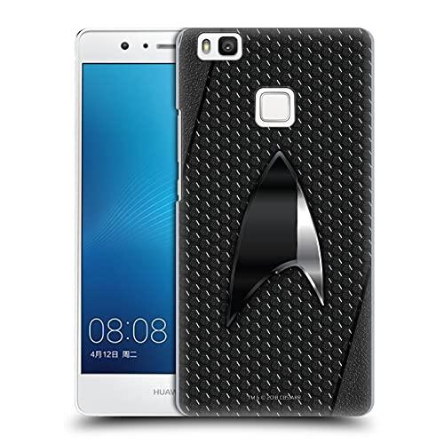 Head Case Designs sous Licence Officielle Star Trek Discovery Noir Insignes Coque Dure pour l'arrière Compatible avec Huawei P9 Lite / G9 Lite