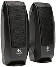 Logitech S-120 2-Piece Stereo Speaker System with Auxiliary Headphone Jack (Black)