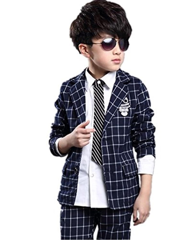 子供スーツ キッズ服 男の子衣装 ズボン、ジャケット 2色2点セット 卒業式/入園式/発表会/七五三/フォーマル 120~160cm