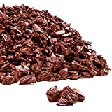 Playsafer Rubber Mulch Nuggets Protective Flooring for Playgrounds, Swing-Sets, Play Areas, and Landscaping (2,000 LBS - 77 CU. FT, Red)