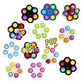 Jouet anti-anxiété : Bubble Pop Hand Spinner jouet antistress pour soulager l'anxiété et autres symptômes causés par le stress mental. Améliore votre concentration et contrôle certaines mauvaises habitudes incontrôlées