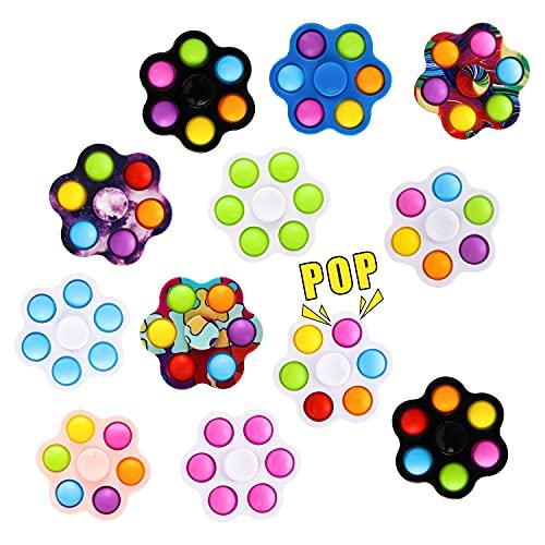 MILESTAR 12 Pack Fidget Spinner Toy Mágico Spinning Juguetes Sensorial Conjunto De Juguetes De Fidget Sensory Juguetes Antiestres para Niños Juguete Simple para Aliviar El Estrés para Niños Y Adultos