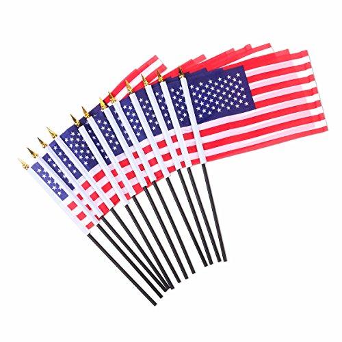 VORCOOL Banderas de la Mano Americana de la Bandera de los EEUU 12pcs